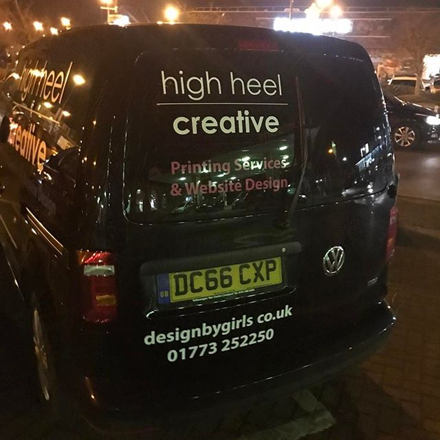"""Not the best photos! But @highheelcreative purchased there van from Cocoon Vehicles and it's now been sign written! They saved over £6k against retail prices and got a great rate if finance! Short and Long Term Car Leasing : 0330 330 9425 : or GOOGLE """"Cocoon Vehicles"""""""