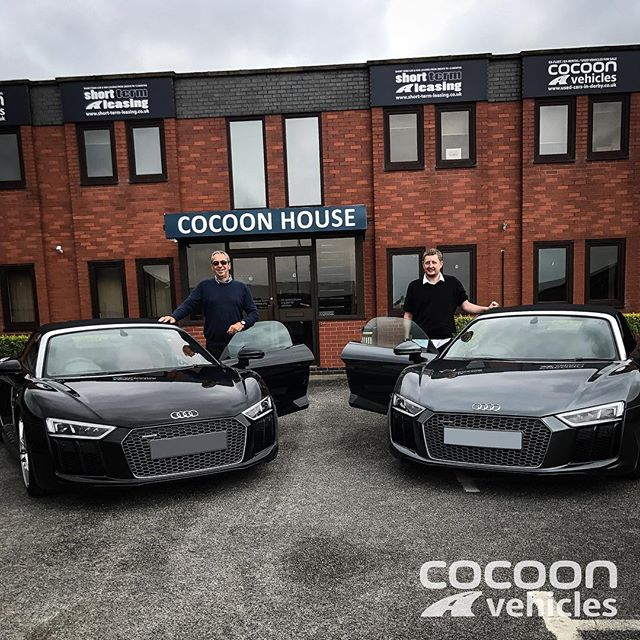 2 x Audi R8's delivered but the Directors couldn't resist a sneaky photo with them both!