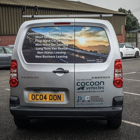 Great design work by @highheelcreative on one of our hire vans! Thanks again!