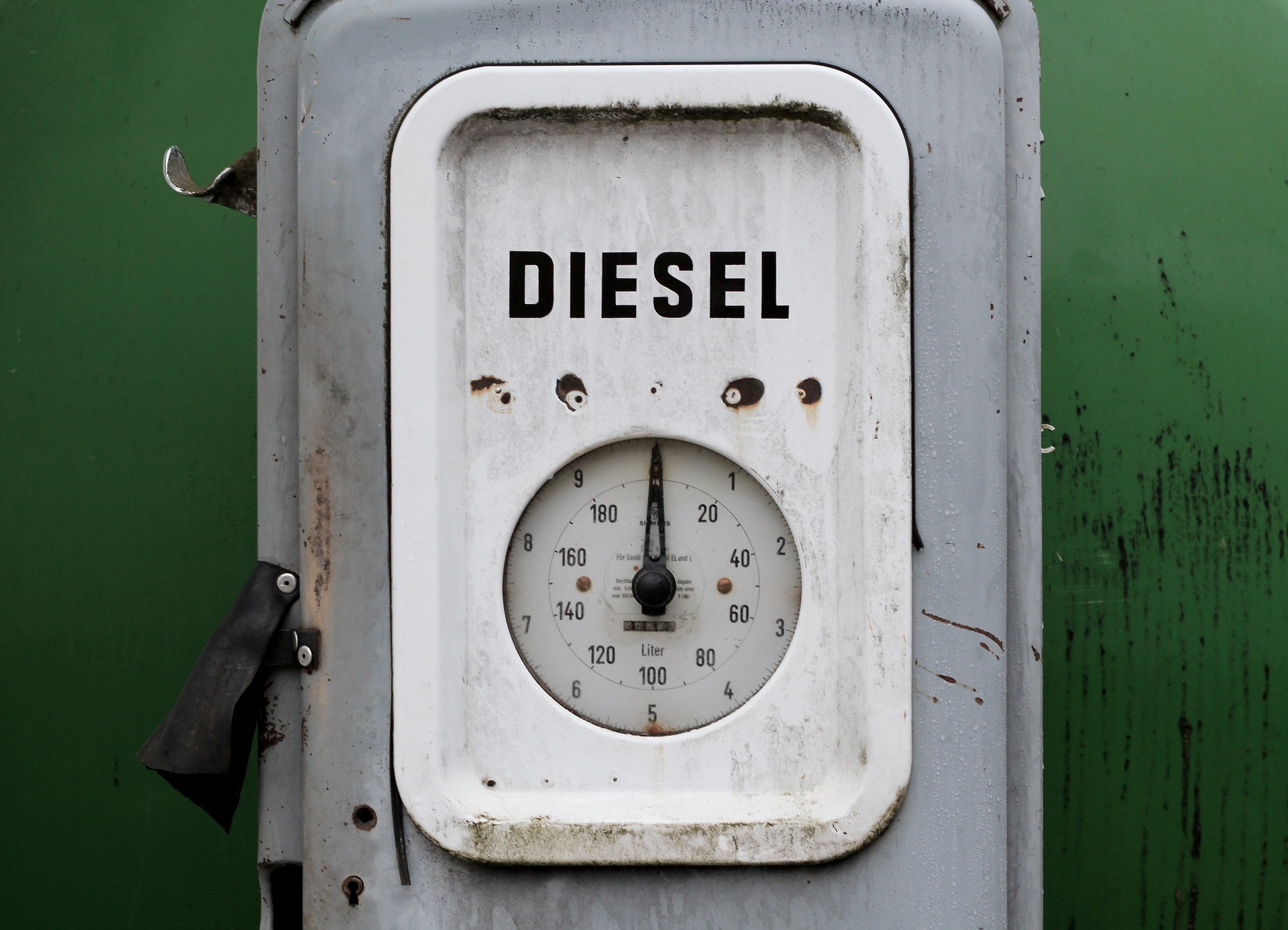 old fashioned diesel pump