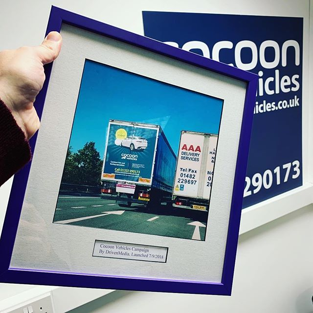 Massive thank you to @drivenmediauk for our present! It's going to take pride of place in our reception area.