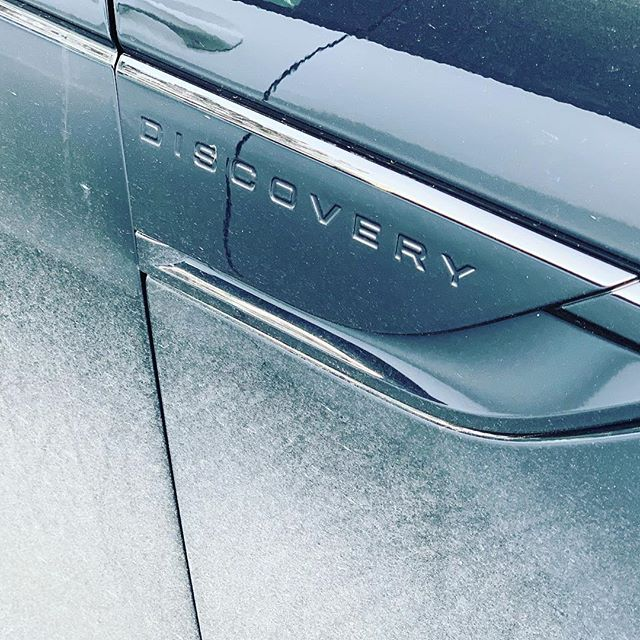 We always like to try and deliver new cars clean, but there is something about a @landrover Discovery with mud on it!  We've had 5 of these beauties delivered to a TV production company in Salford to use in the countryside!