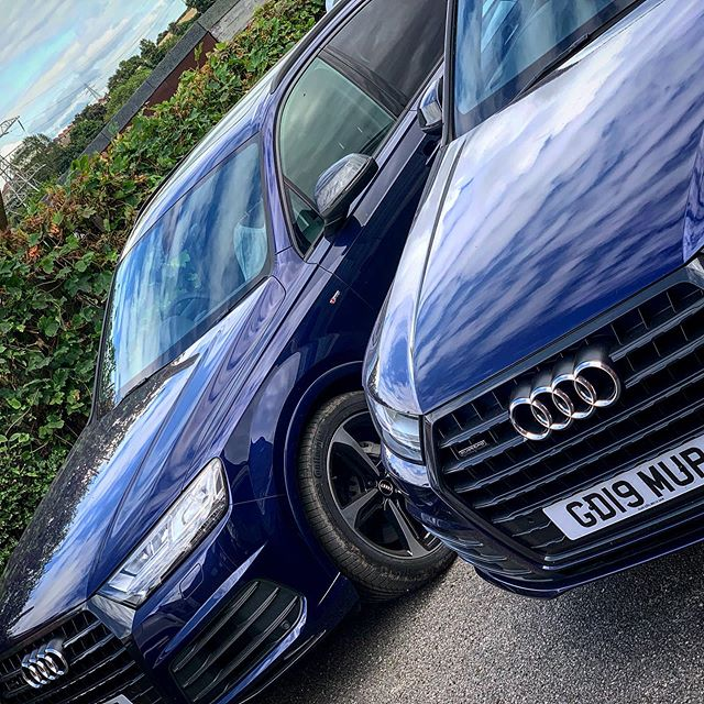 Audi Q7 50 TDI Quattro Black Edition x2 ready for a 7 month short term car lease. Turned up a little late but customer is collecting them tomorrow morning. @audiuk