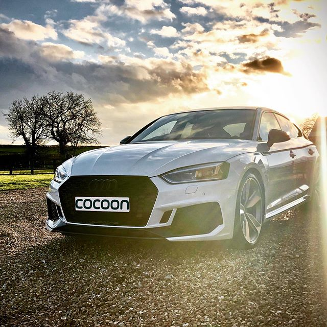 One very happy customer! Audi RS5 Sportback in White! 450PS and 0-62mph in 3.9 seconds! On a Flexi-rental! Find out more on our website!