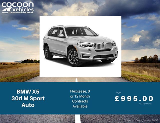 We've got some 20 plate BMW X5's coming through for March/April delivery. Great specification and available on a Flexirental from 28 days, 6 or 12 month car leases.  Find out more by clicking the link in our bio! 01332 290173