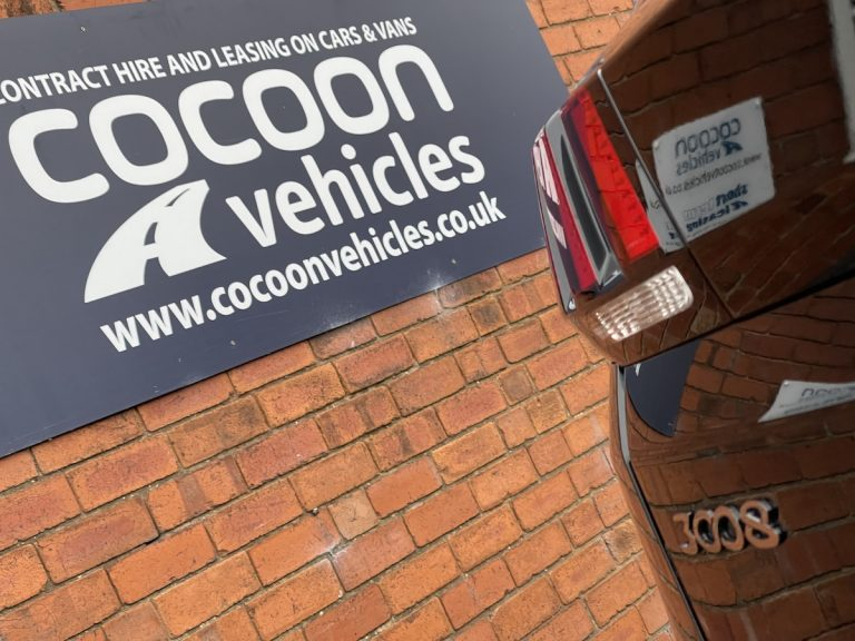 Cocoon Vehicles sign