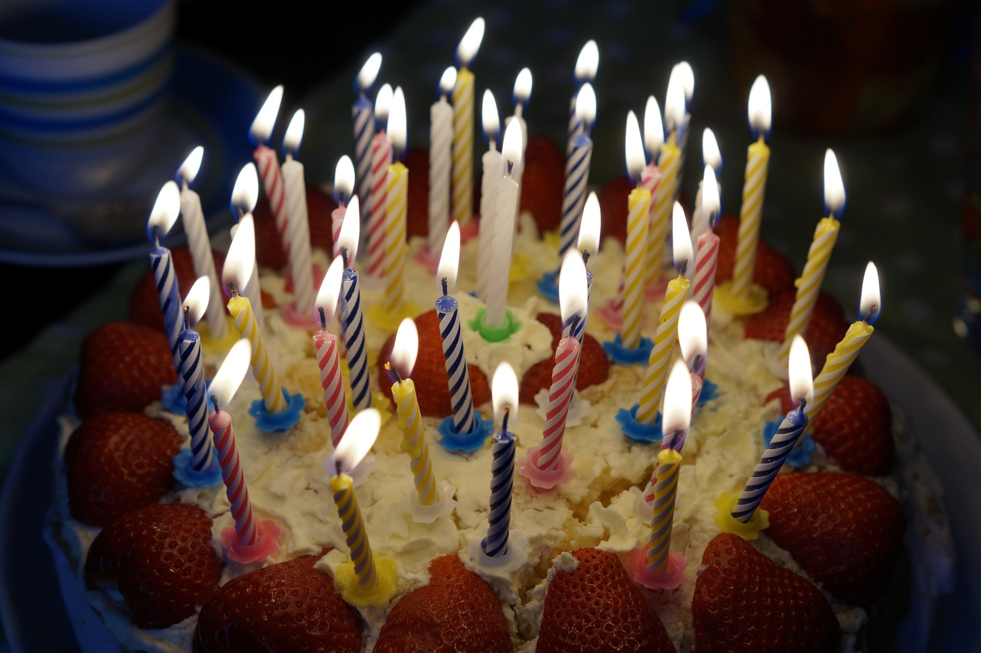 Birthday Cake with lots of candles