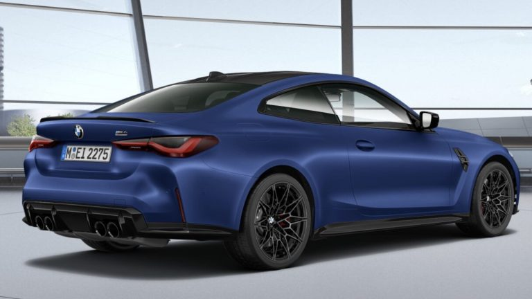 BMW M4 Coupe in Portimao Blue