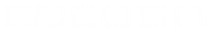 Cocoon Logo - Text Only in White - Custom Font